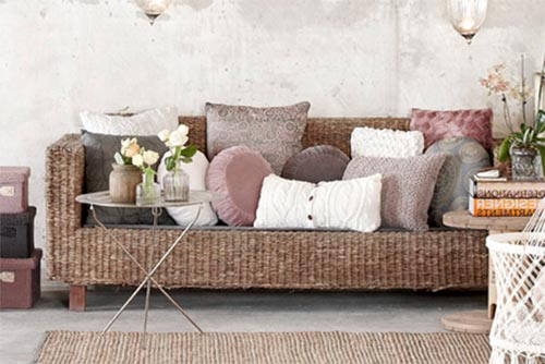 textured sofa seat for living room design