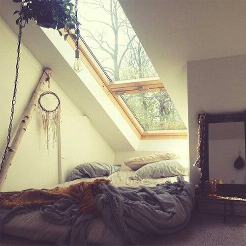 very cosy bedroom with nature view