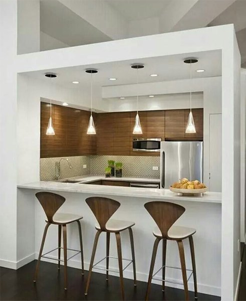 very creative small modern designed kitchen (box kithen)
