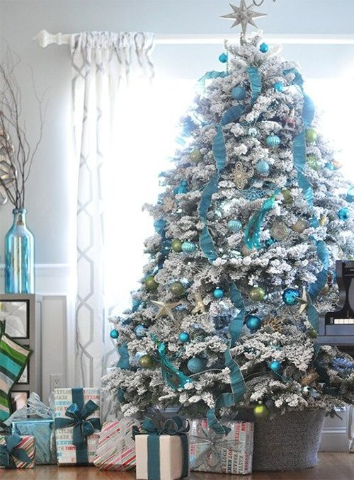 very cute blue christmas tree