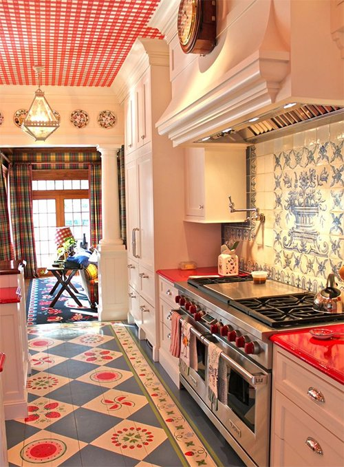 vintage-retro kitchen decorating