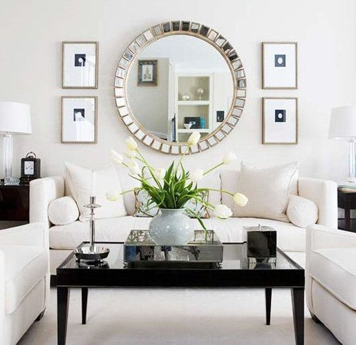 white living room design with modern look