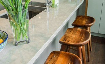 wooden stools for kitchen decoration
