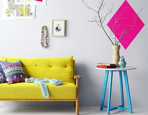 yellow sofa design for minimalist living rooms