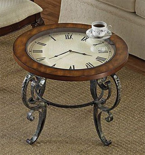 Coffee table ideas for living room Coffee table with clock