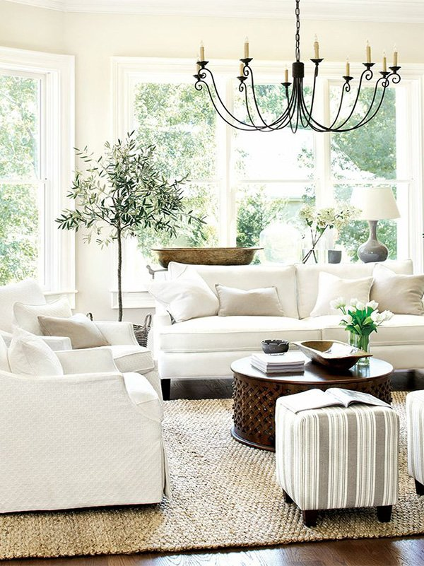 charming living room decor with flowers
