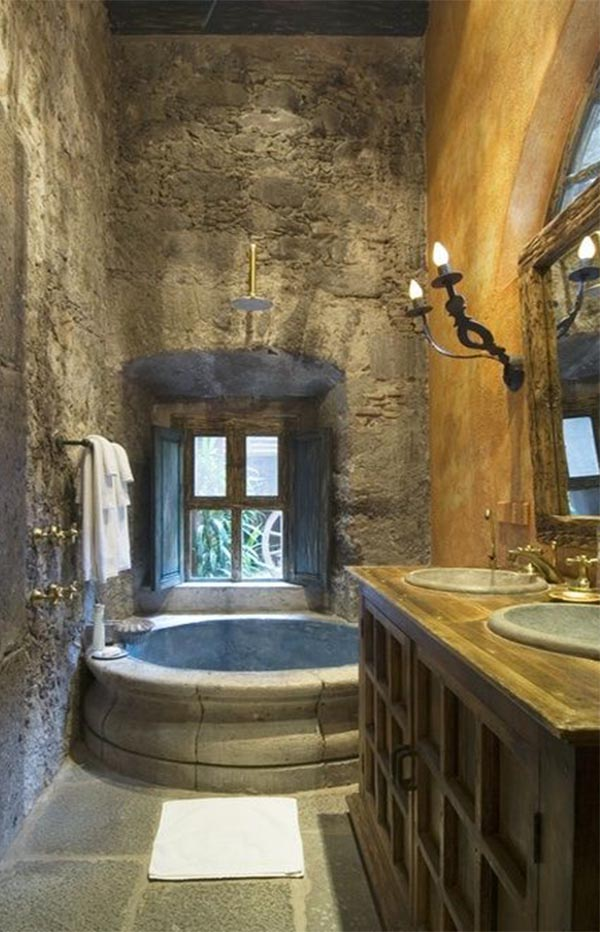 charming tuscan bathroom