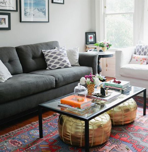 chic glass coffee table design