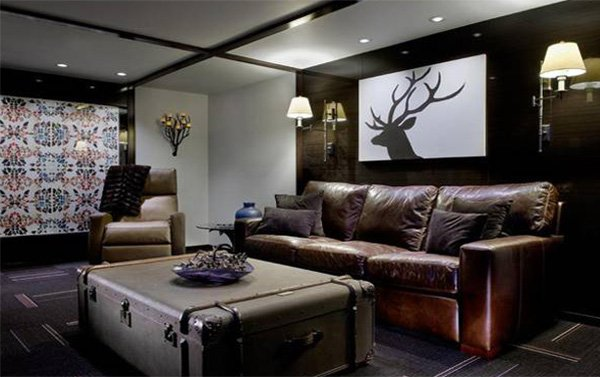 chic masculine living room
