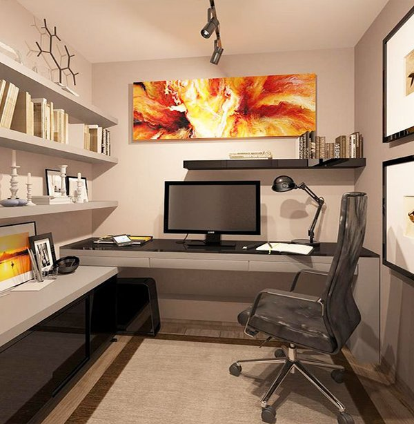 designing tips for a small office room. Black Bedroom Furniture Sets. Home Design Ideas