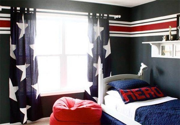 chic teenage boy's bedroom design