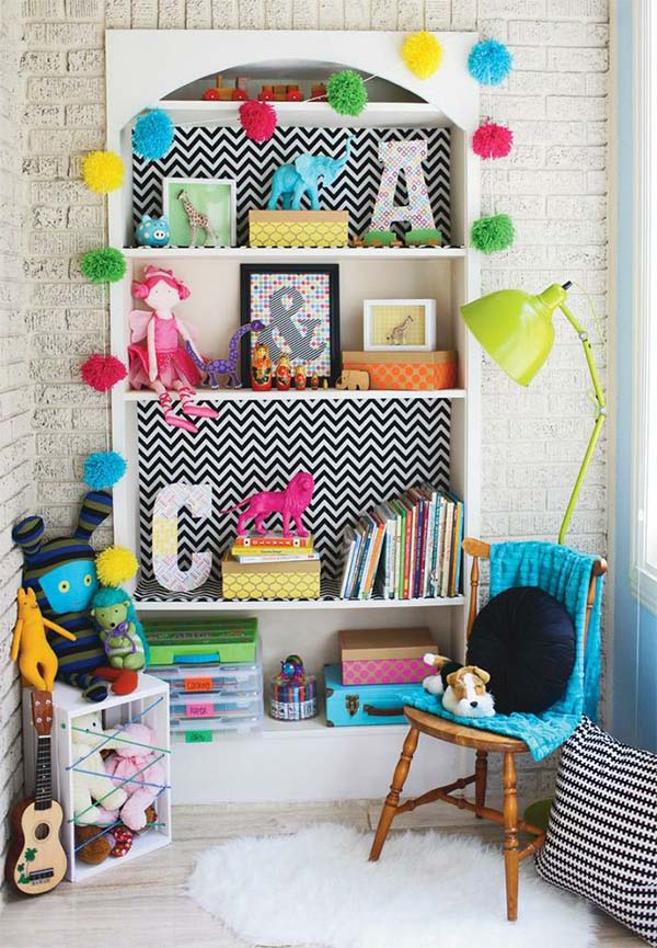 colorful kid's room decor idea