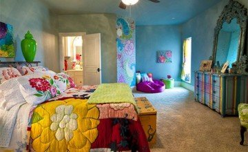 colorful large kid's room
