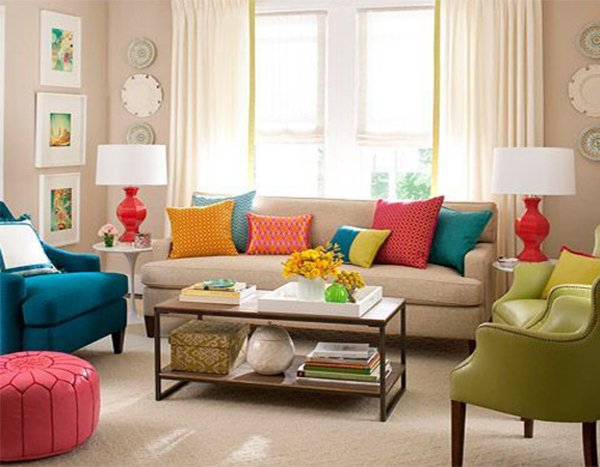 Colorful living room chairs modern house for Colorful living room furniture