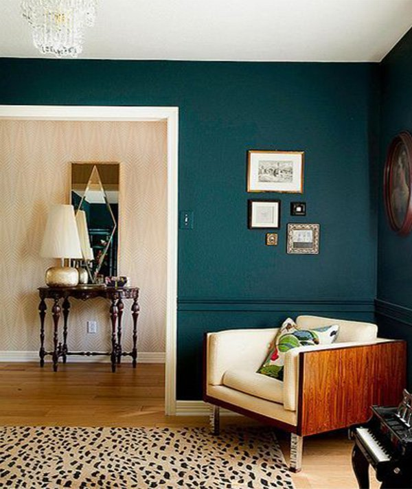 constrast colors for living room design