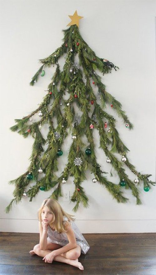 creative christmas tree design for walls