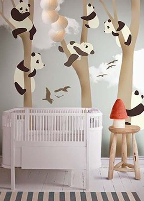 cute and creative wallpaper for nursery wall design
