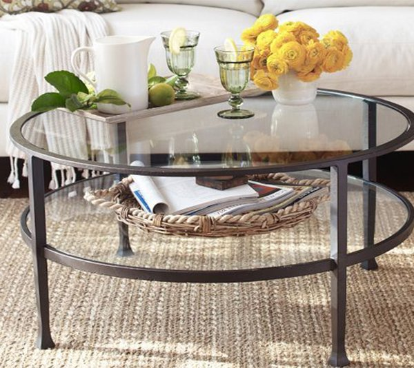 creative and chic glass coffee table ideas