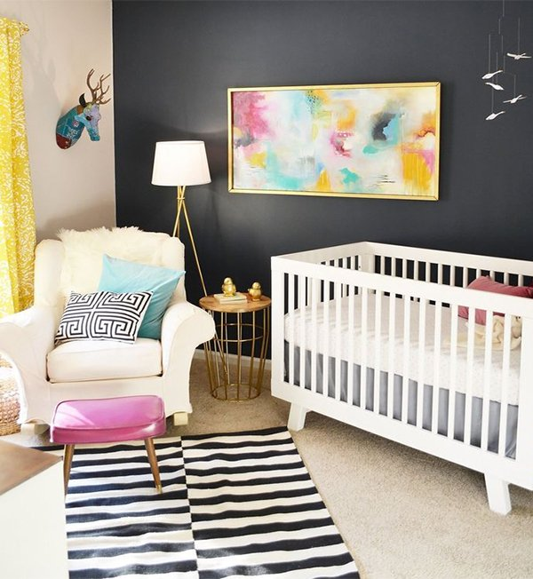 gorgeous decorated and colored nursery design