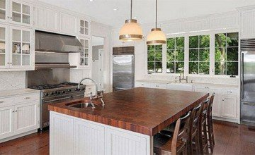 large kitchen decorating