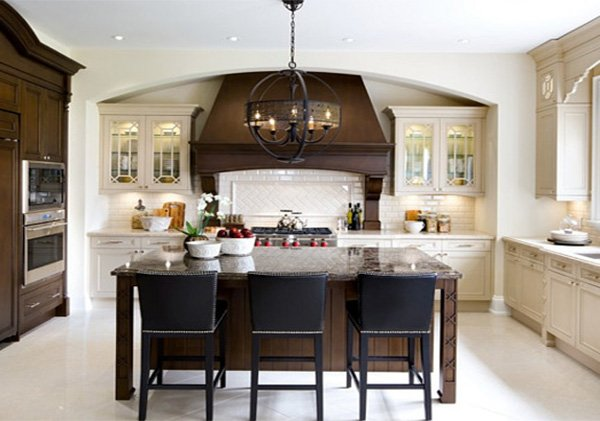 large traditional kitchen design