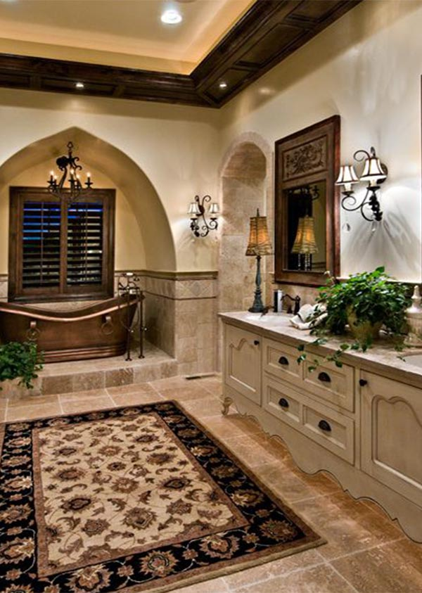 large tuscan bathroom tuscan bathroom design idea - Tuscan Bathroom Design
