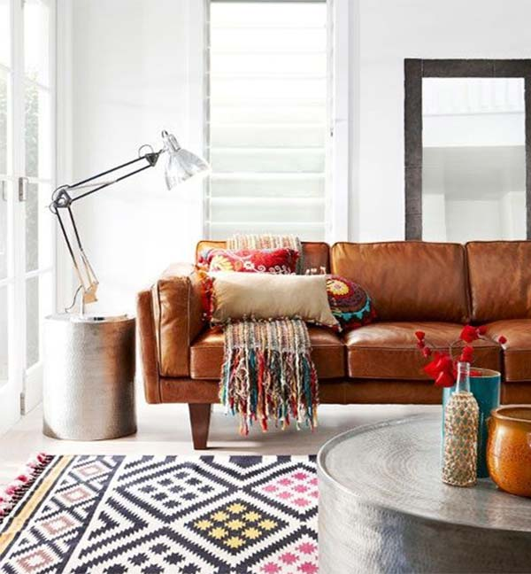 leather sofa for living room design