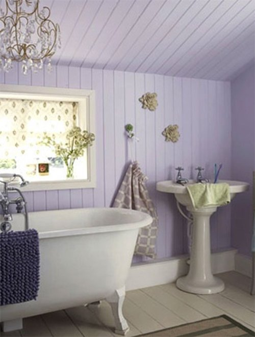 light purple small bathroom