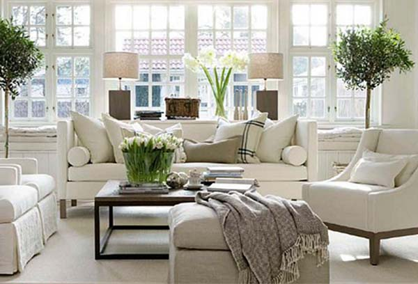 Living Room Decorating With Unique Furniture Pieces