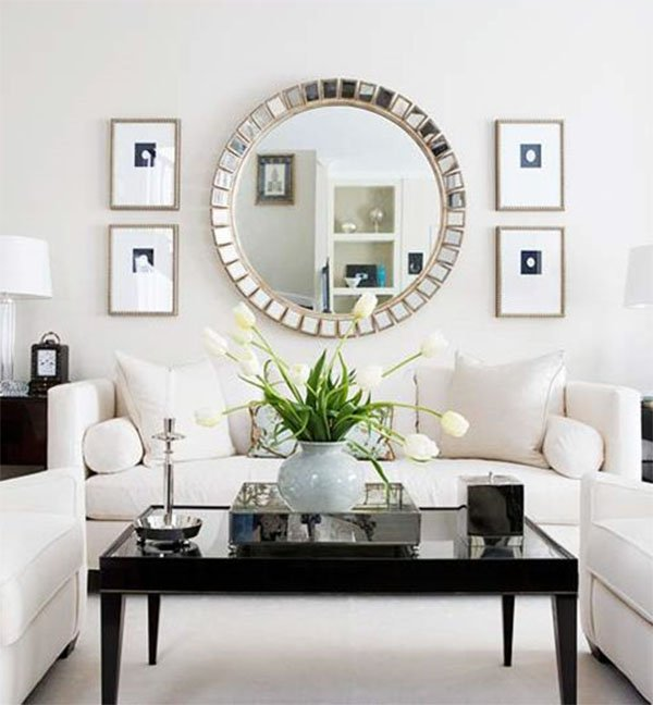 Living room design ideas for Living room mirrors