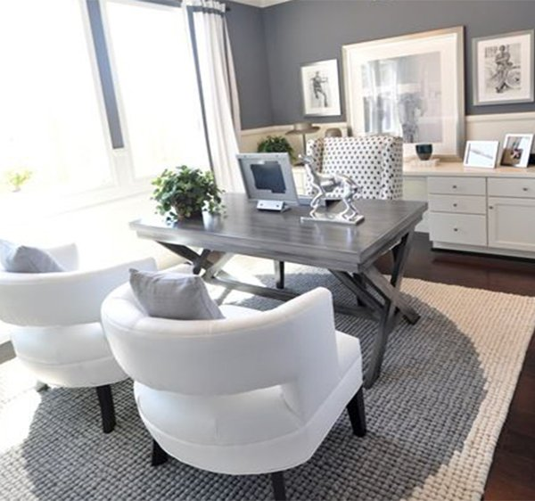 Modern home office decorating ideas for Home office decor ideas