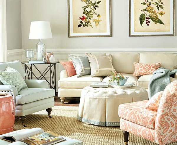 Painting tips for living room decor for Living room ideas pastel