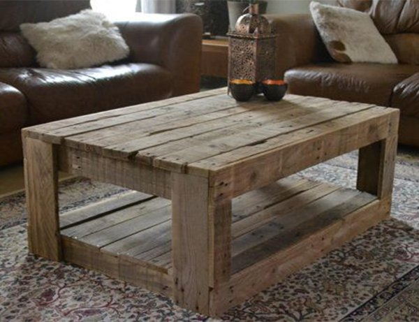 rustic coffee table for living room design