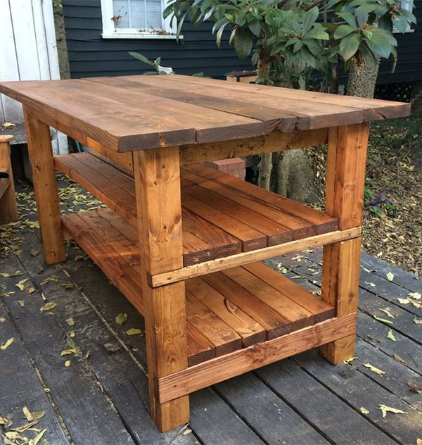 rustic furniture idea for kitchen decor