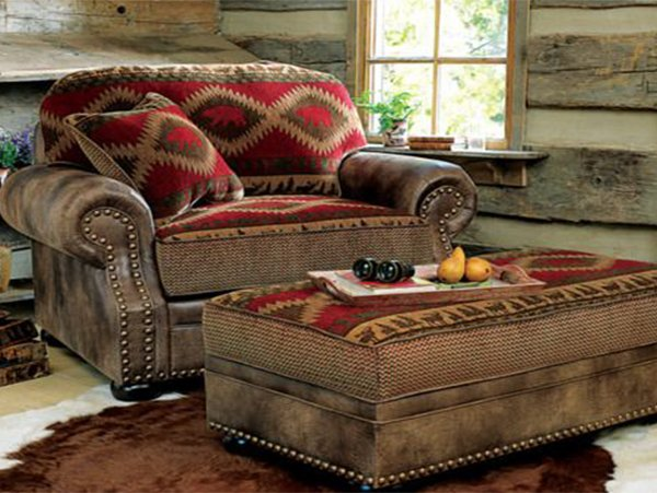 rustic living room furniture idea