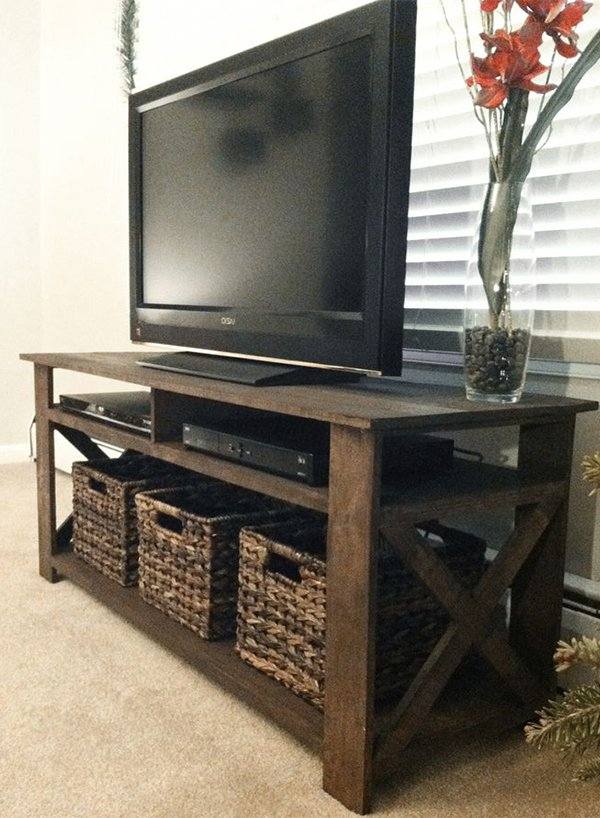 rustic tv console design