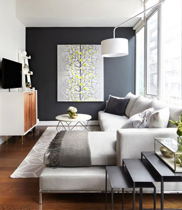 Small living room decorating ideas for Modern small apartment living room ideas