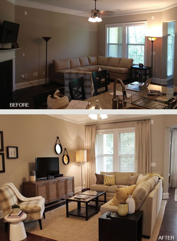 Small living room decorating ideas for Tv room arrangements