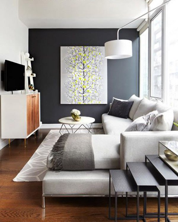 Modern living room decoration ideas for Modern apartment decorating ideas photos