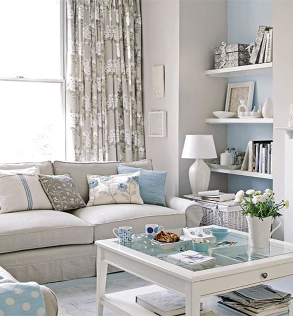 Small Soft Blue Living Room Decor