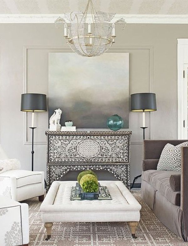 soft colored living room decoration