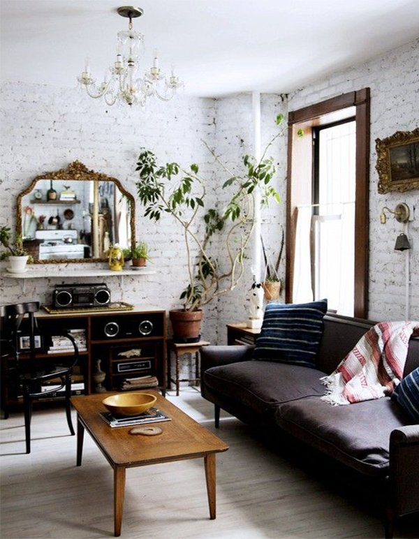 stylish living room decor with plants