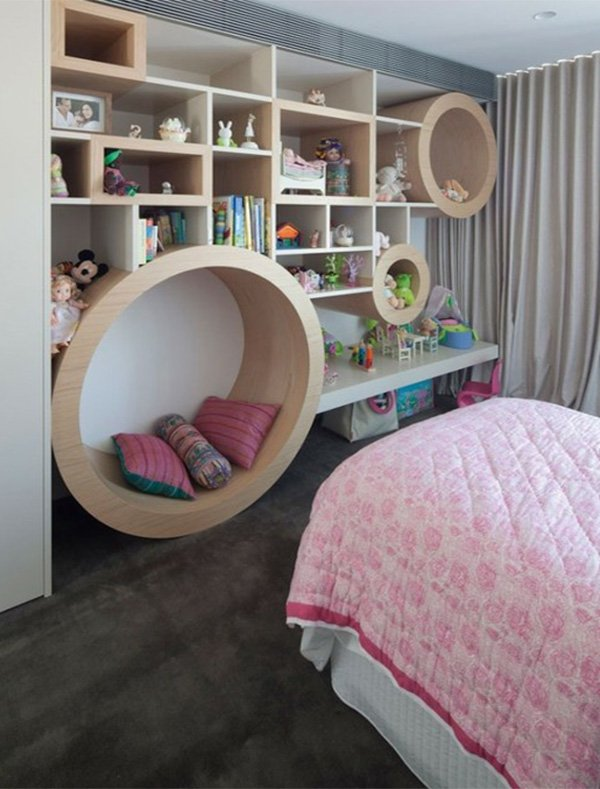 teen bedroom decoration ideas with great shelf storage