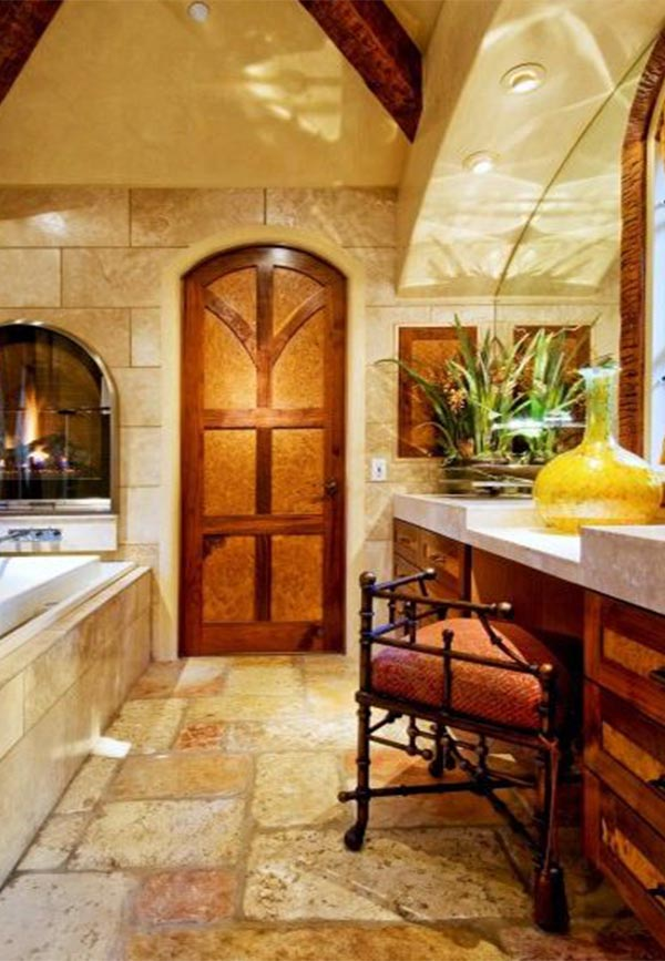 tuscan bathroom idea