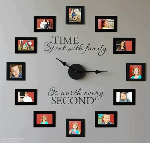 very cute wall clock designed with family photos