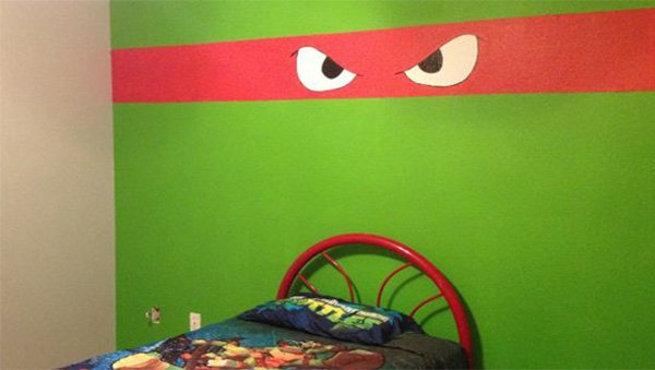 wall design idea for teenage boy's bedroom