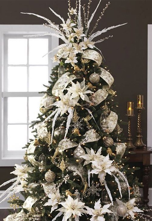 white chic christmas tree