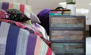 wooden creative nightstand