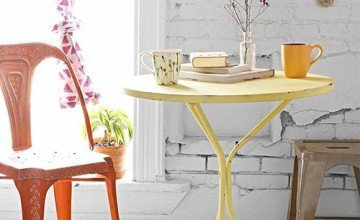 yellow bistro table for home