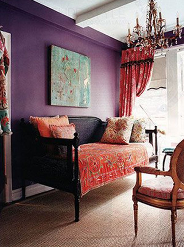 Analogous color ideas for living room